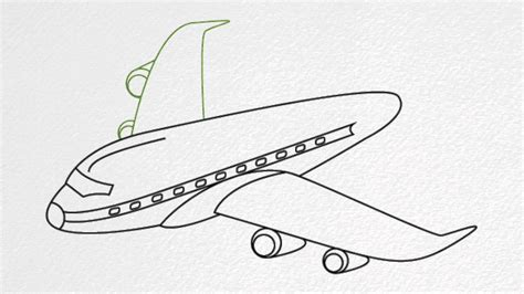 How to draw an AIRPLANE step by step - YouTube