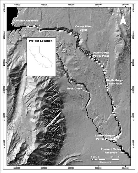Location and map of the Owens River Gorge, California