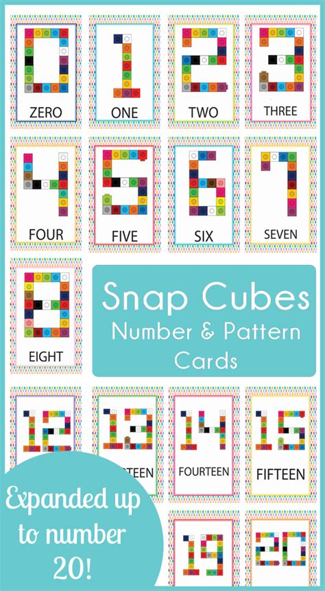 Snap Cube Number Cards 0-20 » One Beautiful Home
