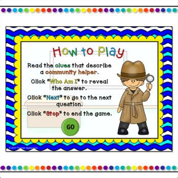 Who Am I? - Community Helpers PPT Game by Teacher Gameroom