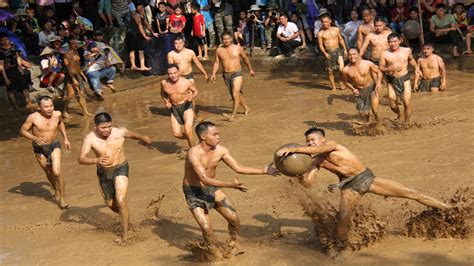 Mud ball wrestling in Bac Giang Provine, a unique world