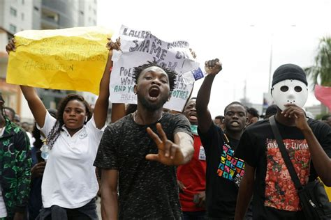 Nigeria protesters demand police reforms for sixth day