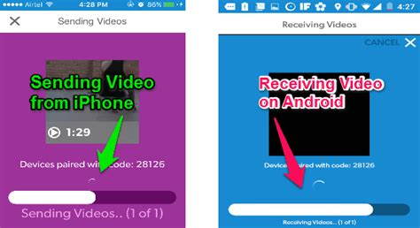 Transfer Videos Between Android and iPhone With a Swipe