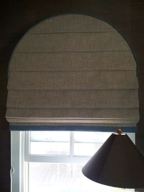 Arched Window Roman Shade - Contemporary - Living Room