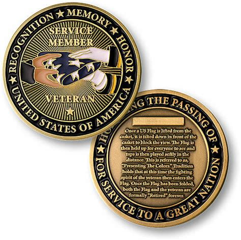 Presenting the Flag Challenge Coin Military Burial Funeral