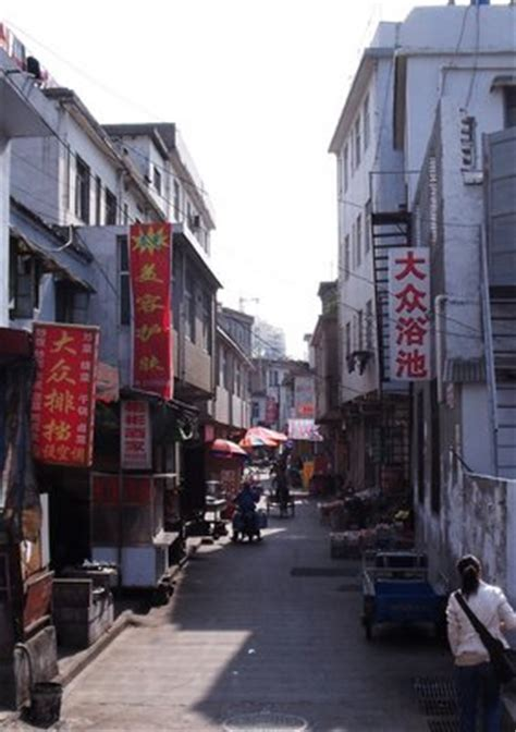 Small street stores in China