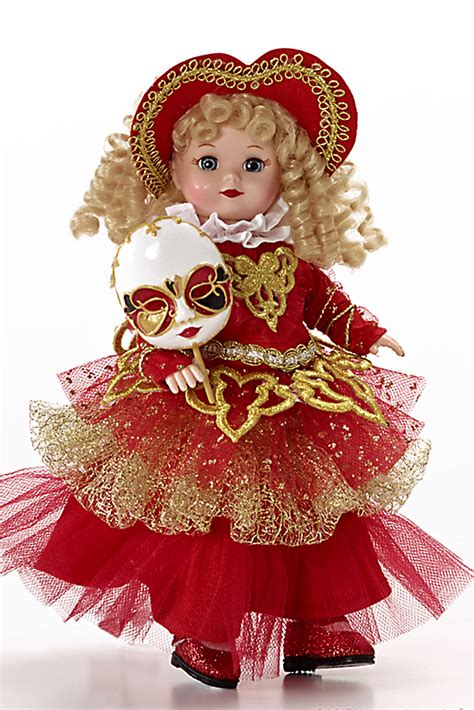 """Dolls :: Collectible Dolls :: Italy Carnivale 8"""" Madame"""