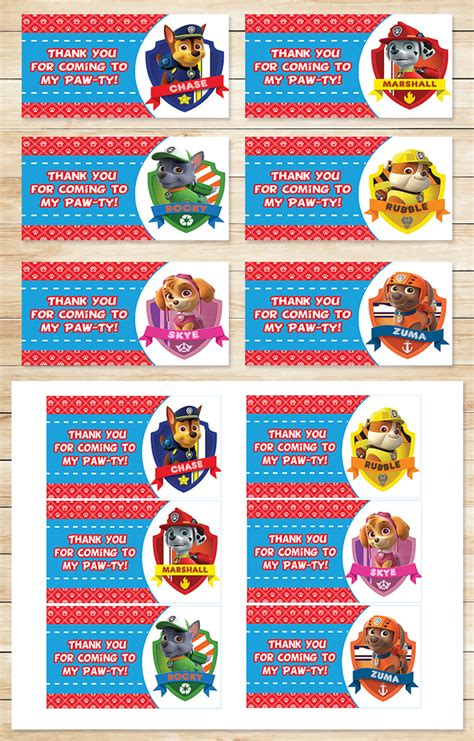 Paw Patrol Party Tags Red * Paw Patrol by