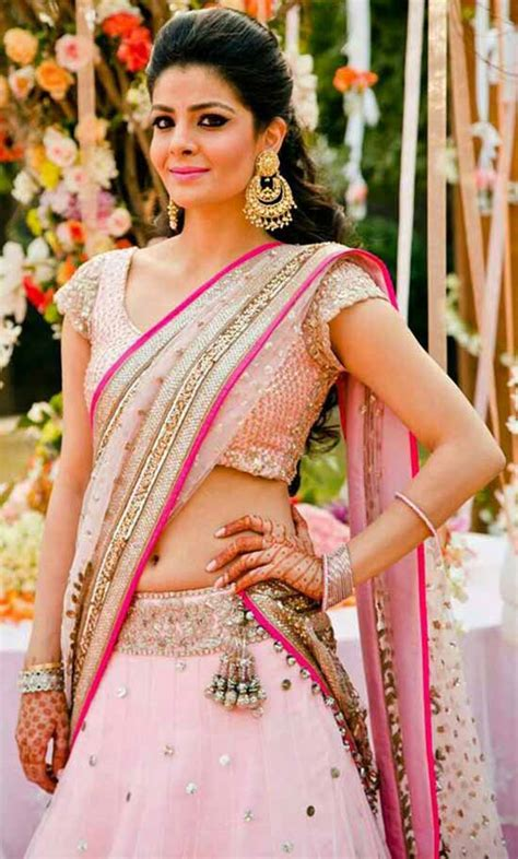 15 Stylish and Trendy Neck Blouse Designs for Half Sarees