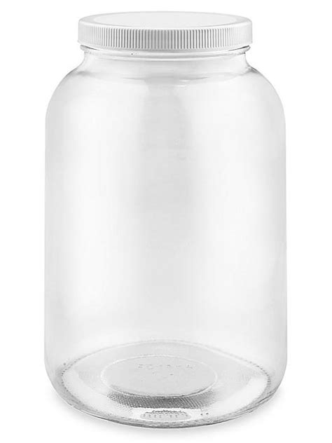 """Wide-Mouth Glass Jars Bulk Pack - 1 Gallon, 4"""" Opening"""