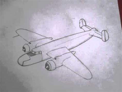 How to draw military vehicles: B-25 Mitchell - YouTube