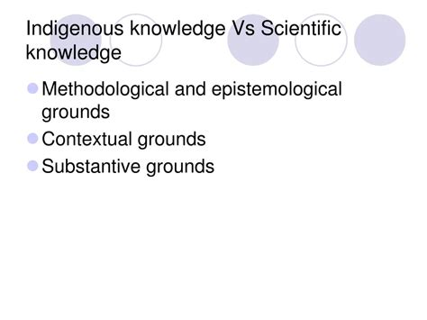 PPT - Indigenous Knowledge and Importance PowerPoint