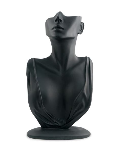 Black Necklace and Earring Jewelry Display Bust Mannequin