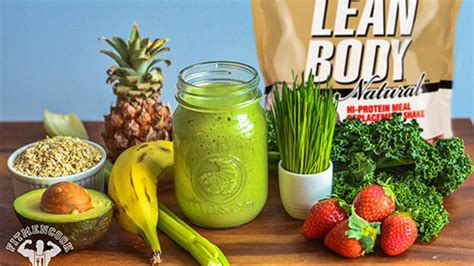 Lean and Green Meal Replacement Smoothie   Bodybuilding