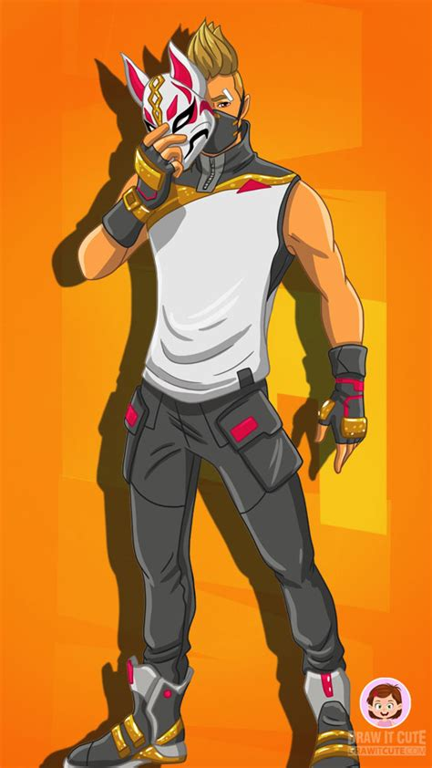 How to draw Drift with Mask   Fortnite Season 5 tutorial