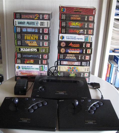FA: Neo-Geo AES + 2 Joyboards +23 Games - Auction Central