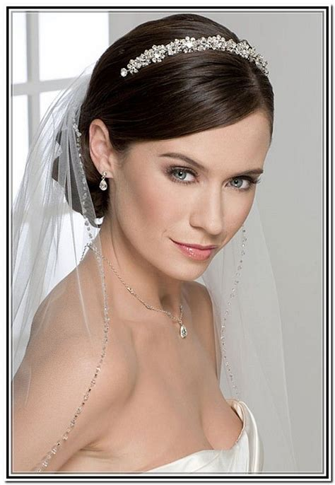 Wedding Updos With Veil Underneath in Hair Style   Short