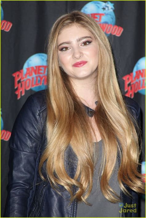 Willow Shields Makes Quick Stop At Planet Hollywood In NYC