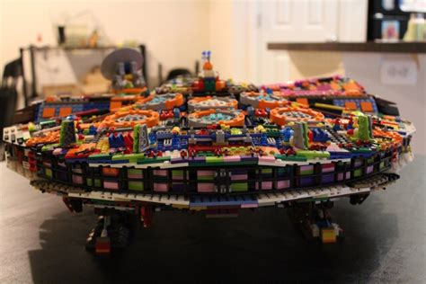 Man Builds His Own Millennium Falcon LEGO Set With All The