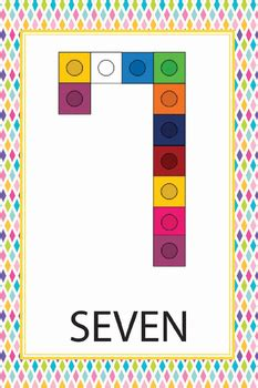 Snap Cube Number Cards (Numbers 0-20) by Preschool Pages | TpT