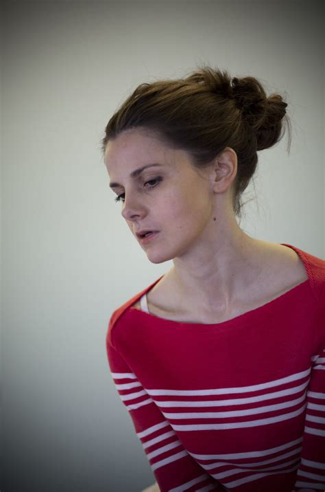 Louise Brealey in rehearsals for THE TROJAN WOMEN (Photo