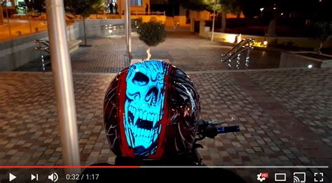 What is Electroluminescent Paint? Custom Motorcycle Helmet