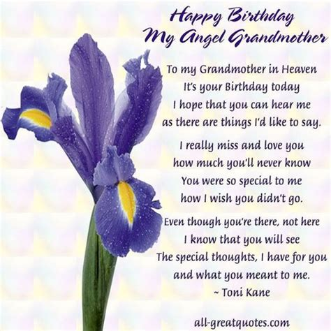 birthday wishes to deceased grandmother - Google Search
