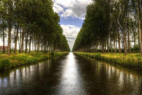 A canal near Damme, Belgium   Just as Bryan was