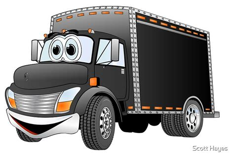 """""""Delivery Truck Black Cartoon"""" Posters by Graphxpro"""