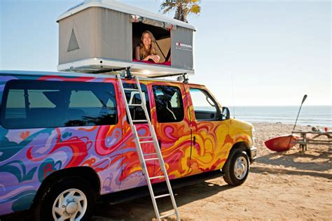 Colorful camper vans available for rent from 7 U