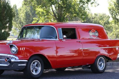 Sell used 57 CHEVY SEDAN DELIVERY 350 4 SPEED!! SUPER NICE