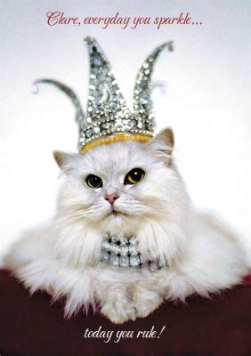 Everyday You Sparkle Cat Wearing Crown Personalised Happy
