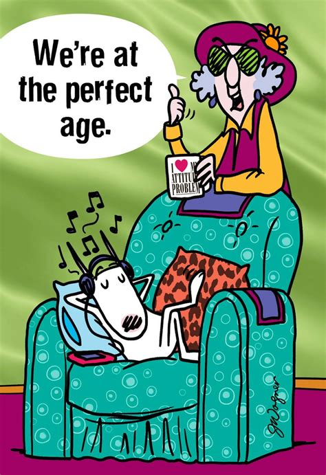 Maxine™ The Perfect Age Funny Birthday Card - Greeting