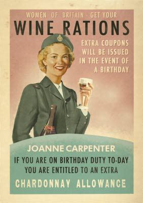 Retro Women Of Britain Get Your Wine Rations Personalised