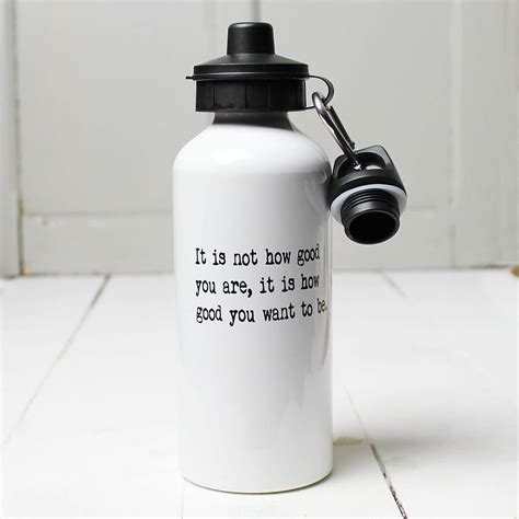 personalised inspirational quote water bottle by