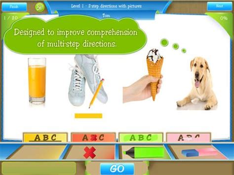School of Multi-Step Directions   Speech therapy apps