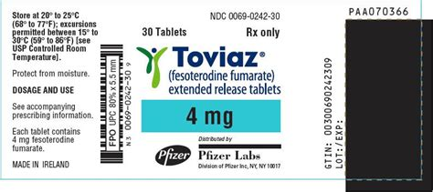Toviaz - FDA prescribing information, side effects and uses