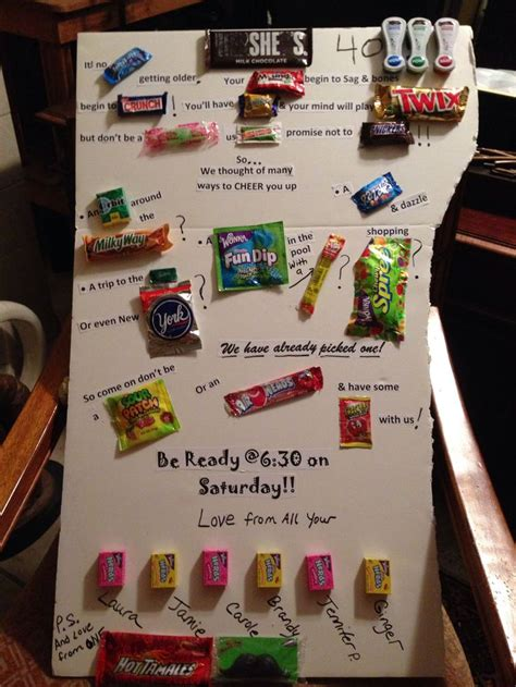 Candy bar sayings Friends 40th birthday | crafts