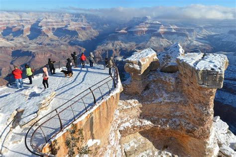 Best Time to See Snow-Powdered Landscape in Grand Canyon