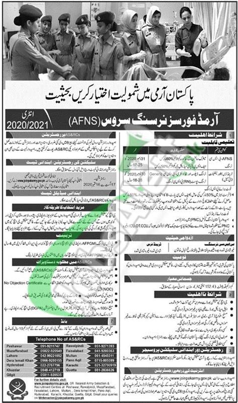 Join Pak Army AFNS Online Registration 2020 Advertisement