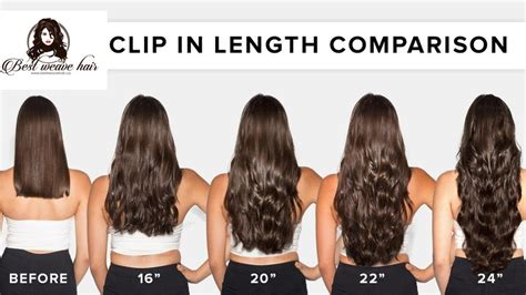 Clip In Hair Extensions Thickness and Length Chart - Clip