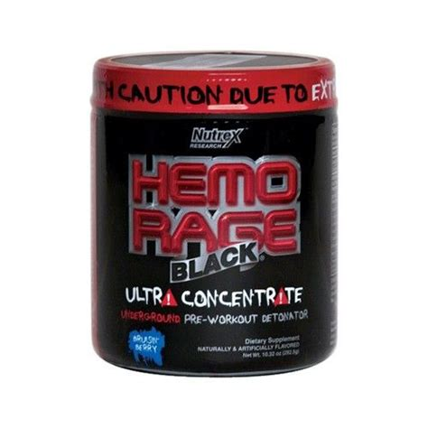 Nutrex Hemo Rage Pre Workout Solution   Supplements, Pure