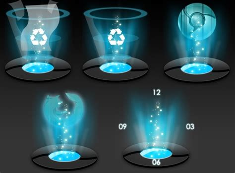 Hologram Dock icons icons pack Free icon in format for