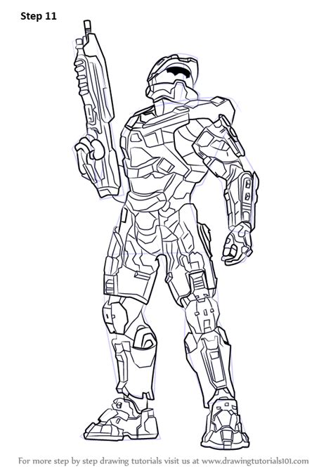 Learn How to Draw Master Chief from Halo (Halo) Step by