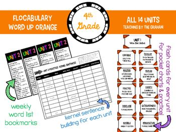 Flocabulary Resources {Word Up Orange} 4th Grade by